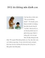 10 lý do không nên đánh con ppsx