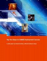 Top ten steps to CMMS deployment success