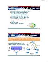 thiết bị và kỹ thuật thi công mạng - bài 8  cơ bản về cấu hình cisco ios