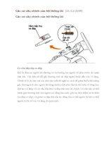 Các cơ cấu chính của hệ thống lái doc
