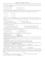 533 câu trắc nghiệm lý thuyết vật lý 12