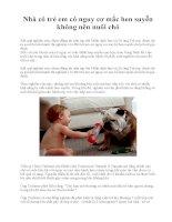 Nhà có trẻ em có nguy cơ mắc hen suyễn không nên nuôi chó docx