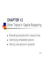 Slide Financial Management - Chapter 12 ppsx