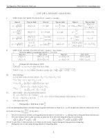 Chuyên đề toán học Hàm số và đạo hàm ppt