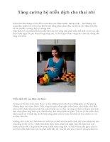 Tăng cường hệ miễn dịch cho thai nhi pdf