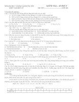 đề kiềm tra 45 phút ( 4 đề cơ bản 4 đề nc)