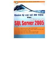quản lý cơ sở dữ liệu với microsoft sql server 2005