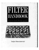filter handbook a practical design guide - s. niewiadomski