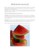 Bé bị táo bón nên ăn gì? pdf