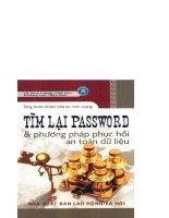 tìm lại password và phương pháp phục hồi an toàn dữ liệu