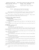 Về việc thay đổi lịch kiểmn tra HK II
