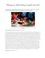 Phòng suy dinh dưỡng ở người cao tuổi pdf