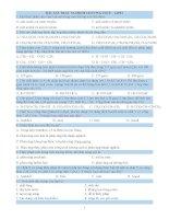 BÀI TẬP ÔN TẬP HÓA HỌC 12 - CHƯƠNG 1