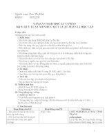 Giáo án Sinh học 12 cơ bản - Quy luật Menden: Quy luật phân li độc lập pdf