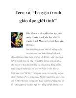 """Teen và """"Truyện tranh giáo dục giới tính"""" potx"""