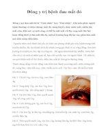 Đông y trị bệnh đau mắt đỏ docx
