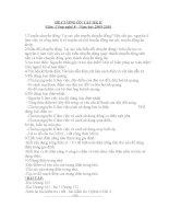 Đề cương ôn tập môn CN8- học kỳ 2