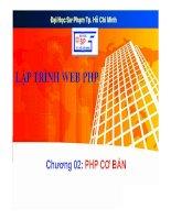 bài giảng lập trình web php - chương 02  php cơ bản -  trường đh sp tp. hcm