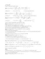 Ôn tập Học kì II toán 9