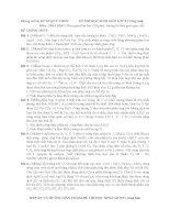Đề thi Học sinh giỏi Hóa lớp 9 - Quy nhơn potx