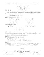 ĐỀ KIỂM TRA TOÁN 6 - HK II (Có đáp án và biểu điểm)