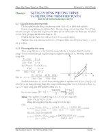 Bài giảng chuyên đề Phương pháp tính Phần 5 pptx