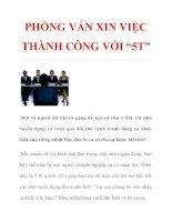 """PHỎNG VẤN XIN VIỆC THÀNH CÔNG VỚI """"5T"""" ppsx"""