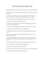 15 lời khuyên khi học tiếng Anh