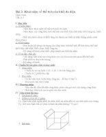 Bài 3: Khái niệm về thể tích của khối đa diện ppt