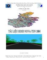 tài liệu hướng dẫn sử dụng nova - tdn 2004