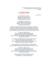 I love you Lyric - Celine Dion doc