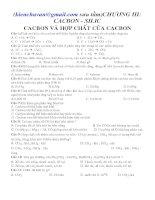CACBON - SILIC CACBON VÀ HỢP CHẤT CỦA CACBON doc