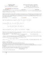 đi thi thử đại học vật lý có lời giải chi tiết đề số 3