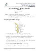 đề thi chứng chỉ tin học quốc gia trình độ a - đề 7