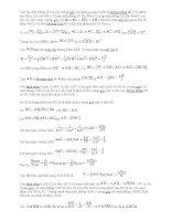 bài tập hinh học không gian(có lời giải)