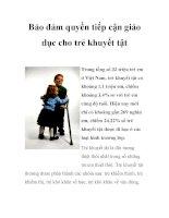 Bảo đảm quyền tiếp cận giáo dục cho trẻ khuyết tật pdf