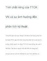 Tính chất riêng của TTCK VN pdf