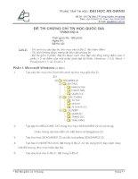 đề thi chứng chỉ tin học quốc gia trình độ a - đề 14