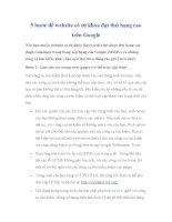 5 bước để website có từ khóa đạt thứ hạng cao trên google