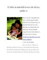 22 điều bé nên biết trước khi đi học (phần 1) docx