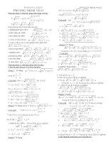 Phương trình vô tỷ-ôn thi Đ.H