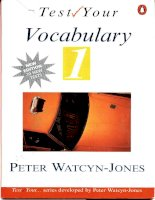 Nâng cao vốn từ vựng Anh văn( test_your_vocabulary_1) ppsx