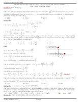 đi thi thử đại học vật lý có lời giải chi tiết đề số 8