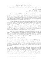 Thị Trường tài chính: Thực trạng và tác động của việc Việt Nam gia nhập WTO docx