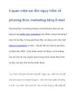 5 quan niệm sai lầm nguy hiểm về phương thức marketing bằng E-mail pptx