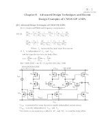 Chapter 8: Advanced Design Techniques and Recent Design Examples of CMOS OP AMPs doc