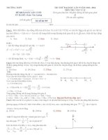 đi thi thử đại học vật lý có lời giải chi tiết đề số 9