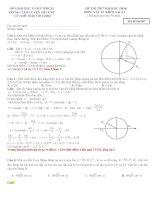 đi thi thử đại học vật lý có lời giải chi tiết đề số 7