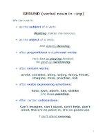 GERUND (verbal noun in –ing) docx