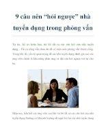 """9 câu nên """"hỏi ngược"""" nhà tuyển dụng trong phỏng vấn pdf"""